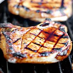Simple Grilled Tuscan Pork Chops - This is a quick and easy way to grill some restaurant-worthy pork chops, Tuscan-style.