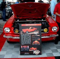 Nice red 1965 Ford #Mustang. Sold for $40,700.  #barrettjackson #barrettjacksonauction #barrettjacksonpalmbeach #ford #fordmustang Barrett Jackson Auction, Ford Mustang, Palm Beach, Cool Cars, Nice, Red, Ford Mustangs, Nice France