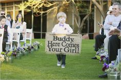 Buddy, here comes your girl sign! So cute by Gaby J Photography