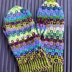 My own mittens where I used a diagram created at Tricksy knitter