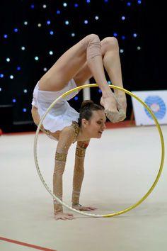 Arina Sharopa with hoop at Miss Valentine 2014