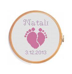 Newborn / Digital personalized pattern for by PatternsCrossStitch