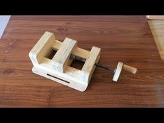 How to Make a Drill Press Vise - El Yapımı Matkap Mengenesi - YouTube