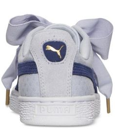 Puma Women s Basket Heart Denim Casual Sneakers from Finish Line Shoes -  Finish Line Athletic Sneakers - Macy s 6eee62b93
