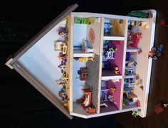 Comment faire une maison playmobil avec une table de chevet Ikea à 10 euros ...