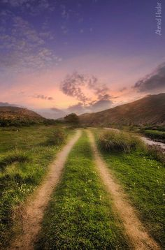 Country lane at sunset (no location given) by Ahmed Hader