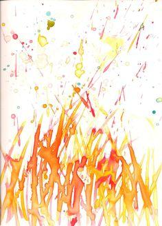 Fire (water color) by MiriFlower27.deviantart.com on @DeviantArt