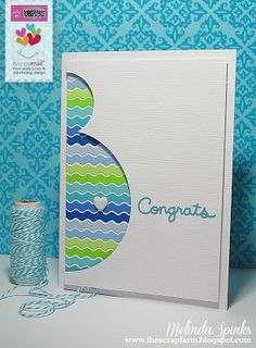 Clever Expectant Mother/Parents card.  Doodlebug Design
