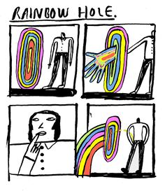 comics and that. Clever, Rainbow, Peace, Comics, Illustration, Mouths, Brain, Humor, Rain Bow