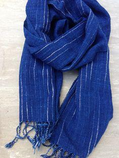 Organic Indigo handwoven scarf: Indigo No.6. $39.00, via Etsy.