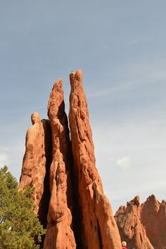 Three graces at Garden of Gods