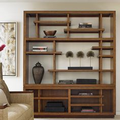 Tommy Bahama Home Island Fusion Taipei Media Library Bookcase Cube Bookcase, Etagere Bookcase, Bookcase In Living Room, Room Divider Bookcase, Bookshelves, Asian Home Decor, Cheap Home Decor, Home And Deco, Traditional Decor