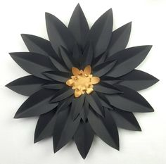 This is a beautiful individual 30 cm (12 inch) diameter handmade giant paper flower. Two different colors to choose from Black and Gold Use our easy set up instructions available on our website. Mix a