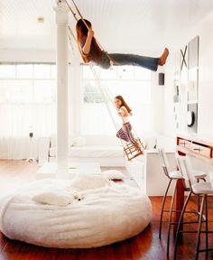 Swings in playroom //