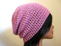 Slouchy Light Pink Beanie Oversized Womens Hipster by fablewood, $22.00