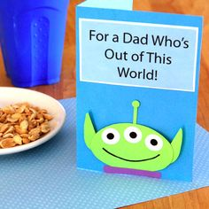 Three-Eyed Alien Father's Day Card | Disney Father's Day Crafts and Recipes | Disney | Disney Family.com
