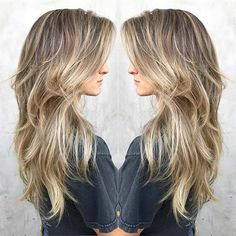 51 Beautiful Long Layered Haircuts - hair styles for short hair Thin Hair Haircuts, Long Layered Haircuts, Haircut For Thick Hair, Thin Long Hair Cuts, Blonde Long Layers, Long Blonde Haircuts, Long Thick Hair Hairstyles, Choppy Layers For Long Hair, Long Hair With Bangs And Layers