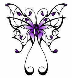 Tribal Butterfly Tattoos | ... tattoo, girl tatto: butterfly Animal tribal tattoos - tribal butterfly-you can get this on a hoodie from Cafe Press!!