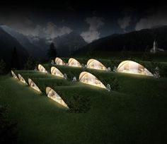 an underground eco-friendly Klima Hotel in Bozen, Italy