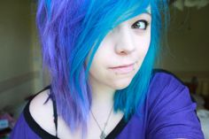 purple and turquoise hair | Tumblr