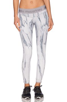 adidas by Stella McCartney Running Print Tights in Ice Grey & Multi