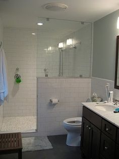 Hall Bath Floor Only Grout Shower Vanity Grout Is White