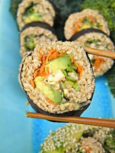 ADDICTED to VEGGIES: Riceless Sushi with Spicy Almond Satay Sauce More