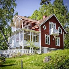 This astounding Swedish home. Swedish Cottage, Red Cottage, Cozy Cottage, This Old House, My Father's House, Sweden House, Red Houses, Scandinavian Home, Architecture