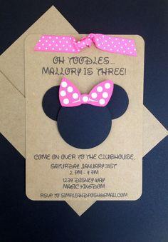 Minnie mouse tea party birthday invitations cute cute cute similar ideas minnie mouse and bow with ribbon handmade by simpleandposh on etsy solutioingenieria Choice Image