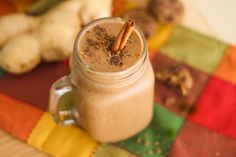 Eating cookies for breakfast might not be the best nutritional choice—unless it's with this gingersnap cookie smoothie. Nutritious Smoothies, Protein Smoothie Recipes, Protein Powder Recipes, Smoothie Prep, Ginger And Cinnamon, Vega Protein And Greens, Dessert Platter, Ginger Snap Cookies, Kitchens