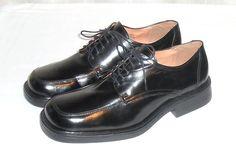 Alfani Men's Black Leather Dress Oxford Made in Italy Size 10.5 M #Alfani #Oxfords