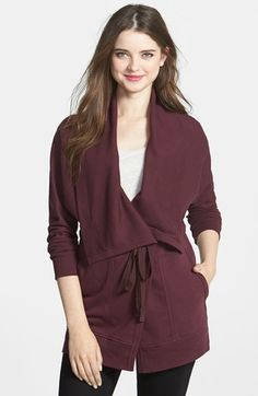 Caslon® Belted French Terry Jacket available at #Nordstrom