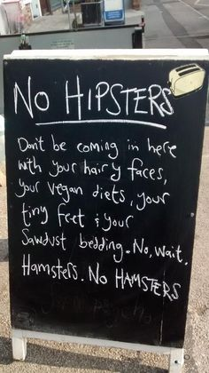 Hate those fuzzy hipsters