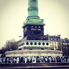 "À great Inside Out project in Paris ! "" Everyone is candidate""... They are all around France with 25000portraits!! More soon!"