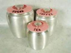 ] Pink Kromex Kitchen Canisters - Vintage Aluminum Kromex ...