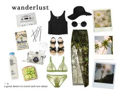 """Wanderlust"" by chloee013 ❤ liked on Polyvore featuring Helmut Lang, Monki, Agent Ninetynine, A.P.C., I.D. SARRIERI, Mason's, CASSETTE, Lomography, American Apparel and Polaroid"