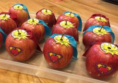 INSTANT DOWNLOAD - Superhero Apples for Teacher Appreciation Week
