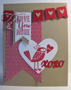 Red Birdie for Valentine's Day! SU stamp set -  Love You More (by Barb Mann)