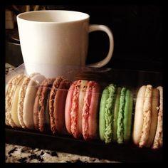 Café y #macarons
