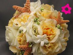 Ramos novia boda playa estrellas de mar