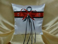 Wedding Ring Bearer Pillow with Case IH Colors and by StarBridal, $29.95