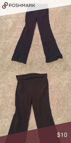 Black Yoga Pants Blank Danskin Yoga Pants.  Roll over waist.  Girls XL 14-16. Danskin Bottoms Casual