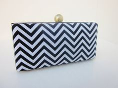 black and white clutch purse/bridesmaid by VincentVdesigns on Etsy, $45.00