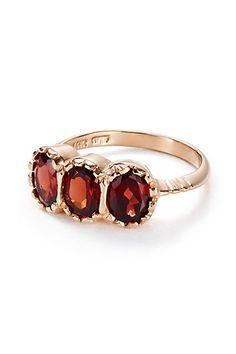 Garnet Trinity Ring in 14k Rose Gold #anthrofave