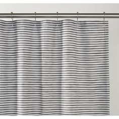 Painterly Stripe Shower Curtain | Bath Linens | Bed+Bath