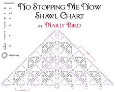 The No Stopping Me Now Shawl Crochet Chart is something I've wanted to offer those of you who are interested in making the wonderful No Stopping Me Now Shawl that Idesigned as a free pattern…
