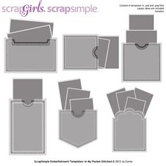 ScrapSimple Embellishment Templates: In My Pocket Stitched