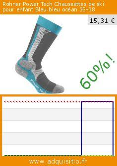 Rohner Power Tech Chaussettes de ski pour enfant Bleu bleu océan 35-38 (Sports Apparel). Réduction de 60%! Prix actuel 15,31 €, l'ancien prix était de 37,99 €. http://www.adquisitio.fr/rohner-socken/rohner-power-tech-6