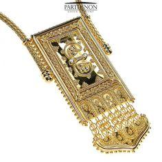 Parthenon Greek 18k Gold Chain and charm by ParthenonGreekJewels