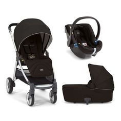 The revolutionary big little stroller (with extras) from Mamas & Papas. Includes Carrycot + Aton Car Seat in Black Jack.